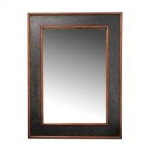 Worn Ivory Canvas Rectangular Mirror