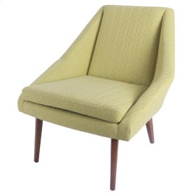 Enzo KD Fabric Accent Chair, Lime Leafage Green