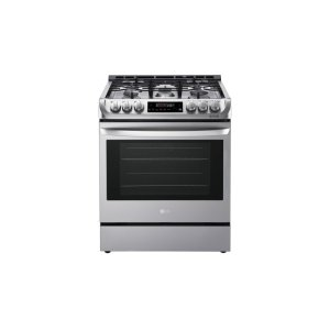 LG Appliances6.3 cu. ft. Gas Single Oven Slide-in Range with ProBake Convection(R) and EasyClean(R)