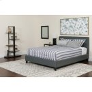 Chelsea Queen Size Upholstered Platform Bed in Dark Gray Fabric Product Image