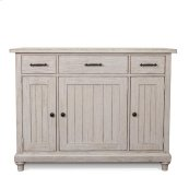 Aberdeen Server Weathered Worn White finish