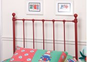 Molly Twin Duo Panel Red - Must Order 2 Panels for Complete Bed Set