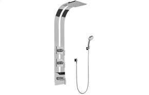 Square Thermostatic Ski Shower Set w/Handshowers (Rough & Trim)