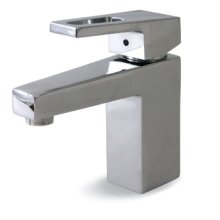 Art Contemporary Single Hole Faucet with Pop-Up Assembly - Polished Chrome