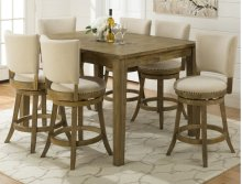 Turner's Landing Upholstered Back Swival Stool