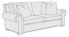 Hampton Loveseat in Mocha (751)