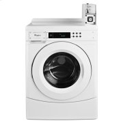 """Whirlpool® 27"""" Commercial High-Efficiency Energy Star-Qualified Front-Load Washer Featuring Factory-Installed Coin Drop with Coin Box - White Product Image"""
