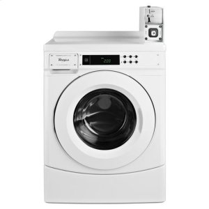 "WhirlpoolWhirlpool® 27"" Commercial High-Efficiency Energy Star-Qualified Front-Load Washer Featuring Factory-Installed Coin Drop with Coin Box - White"