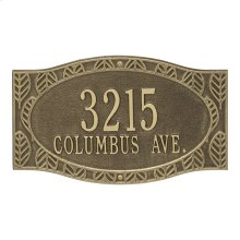 Frond Neohaus 2 Line Personalized Wall Plaque - Antique Brass