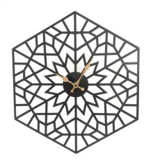 Black/gold Metal Hexagon Clock, Wb, Wb