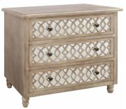 Veranda 3 Drawer Sandstone and Mirror Chest Product Image