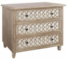 Veranda 3 Drawer Sandstone and Mirror Chest