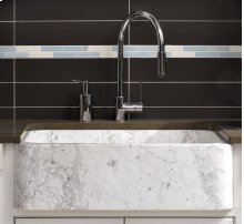 Polished Front Farmhouse Sinks Carrara Marble