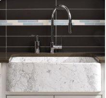 Polished Front Farmhouse Sinks Carrara Marble