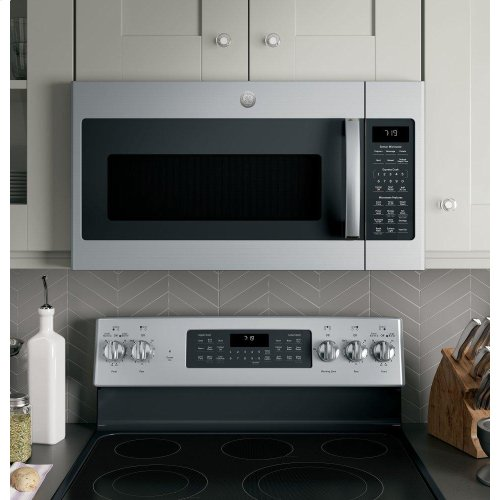 GE® 1 9 Cu  Ft  Over-the-Range Sensor Microwave Oven