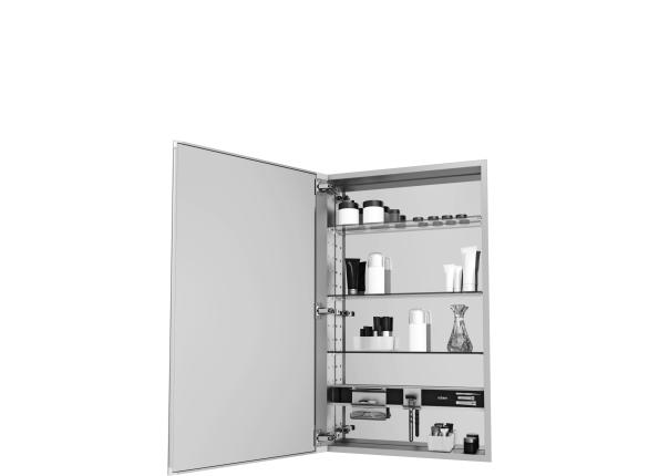 Mirror Cabinet with Beveled Edge Door