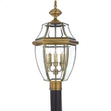 Newbury Outdoor Lantern in Antique Brass