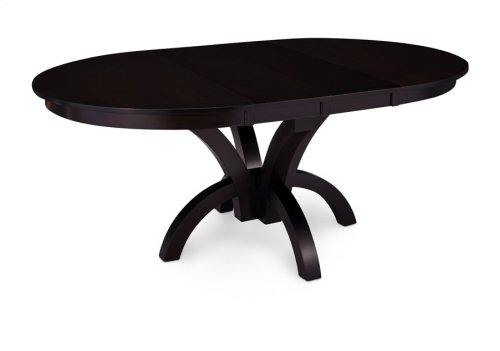 "Adeline Single Pedestal Table, 18"" Butterfly Leaf"