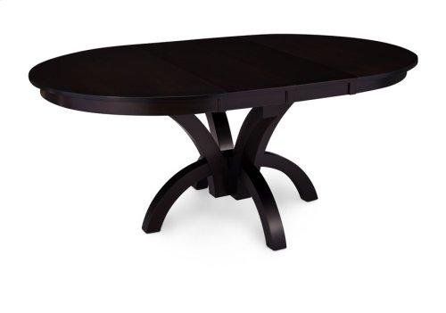 "Adeline Single Pedestal Table, 18"" Butterfly Leaf"