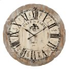"Distressed ""Cafe de Paris"" Wall Clock. Product Image"