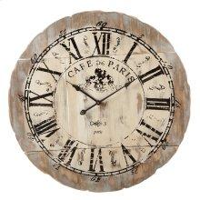 "Distressed ""Cafe de Paris"" Wall Clock."