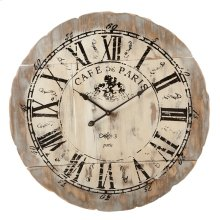 "Distressed ""Cafe de Paris"" Wall Clock."