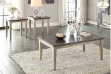 End Table with Bluestone Marble Top