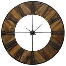 Metal & Wood Wall Clock  47in X 47in