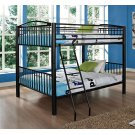 Heavy Metal Black Full Over Full Bunk Bed Product Image