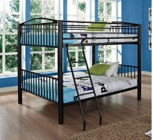Heavy Metal Black Full Over Full Bunk Bed
