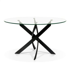 Ellis - Round Glass Top Dining Table