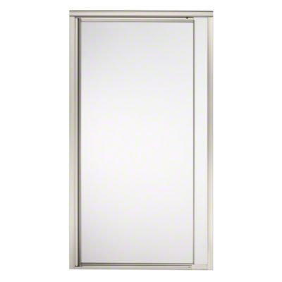 "Vista Pivot™ II Shower Door - Height 65-1/2"", Max. Opening 36"" - Nickel with Frosted Glass Pattern"