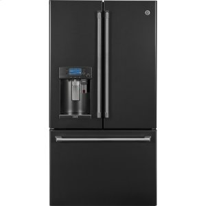 GE CafeENERGY STAR(R) 22.2 Cu. Ft. Counter-Depth French-Door Refrigerator with Keurig(R) K-Cup(R) Brewing System