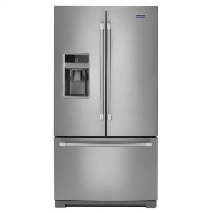 36-inch Wide French Door Refrigerator with PowerCold Feature - 25 cu. ft. - STAINLESS STEEL