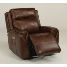 Zara Leather Power Gliding Recliner with Power Headrest