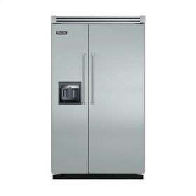 """Sea Glass 48"""" Side-by-Side Refrigerator/Freezer with Dispenser - VISB (Integrated Installation)"""