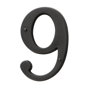 Oil-Rubbed Bronze House Number - 9
