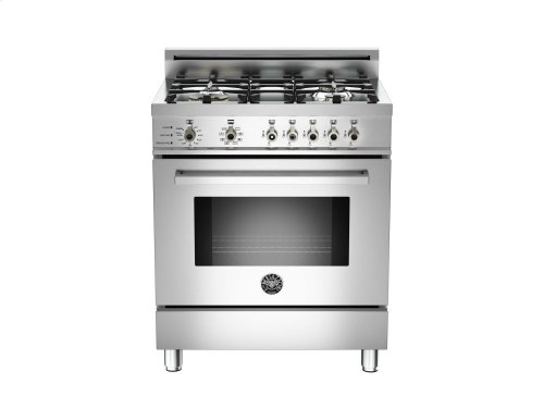 30 4-Burner, Electric Self-Clean Oven Stainless