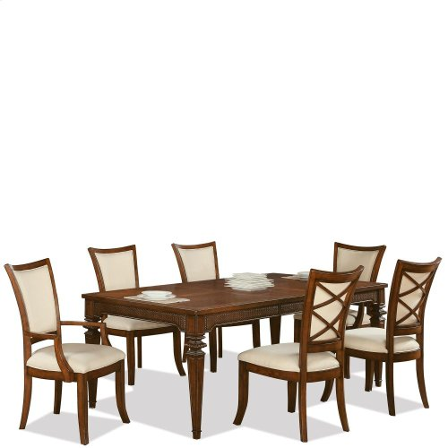 Windward Bay - Rectangular Dining Table - Warm Rum Finish