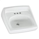 White Lucerne Wall-Mount Sink Product Image