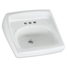 White Lucerne Wall-Mount Sink