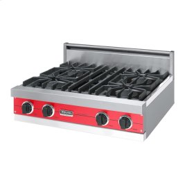 "Racing Red 30"" Open Burner Rangetop - VGRT (30"" wide, four burners)"