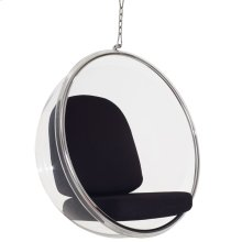 Ring Acrylic Lounge Chair in Black