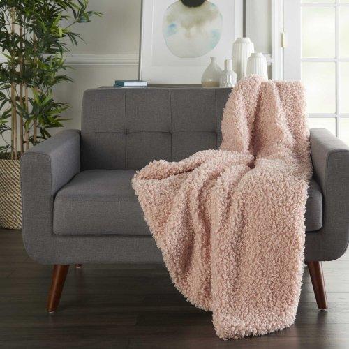 """Faux Fur Fl200 Rose 50"""" X 60"""" Throw Blankets"""
