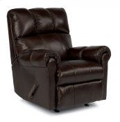 McGee Leather Swivel Gliding Recliner