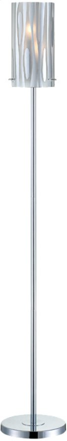 Floor Lamp,chrome/fro Glass W/chrome Accent,e12 Type B 40wx2 Product Image