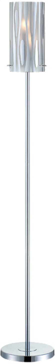 Floor Lamp,chrome/fro Glass W/chrome Accent,e12 Type B 40wx2