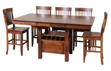 "45/52-2-12"" Rectangular Gathering Cafe Table with Door"