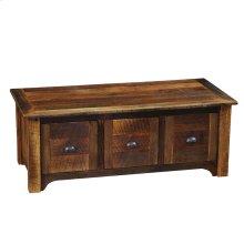 Three Drawer Entry Bench - Wood seat