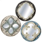 Round Carved Wall Mirror (3 asstd). Product Image